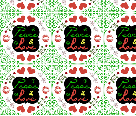 Peace & Love fabric by ronnyjohnson on Spoonflower - custom fabric