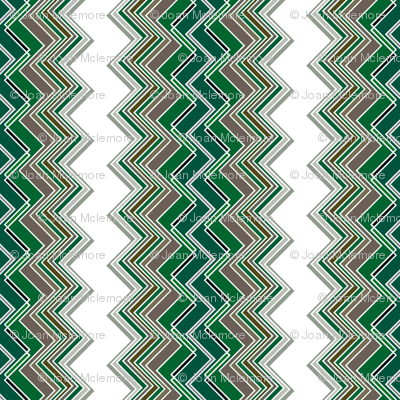 Emerald Chevron Illusion