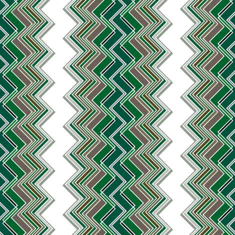 Emerald Chevron Illusion fabric by joanmclemore on Spoonflower - custom fabric