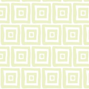 Retro Wonky Square (lt. lime)