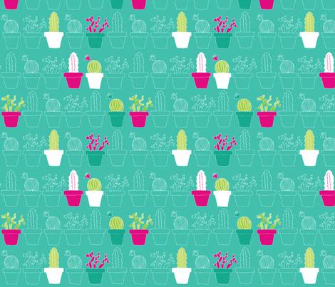Mini Cactus Joy fabric by joyfulroots on Spoonflower - custom fabric
