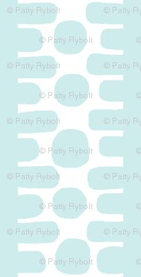 Bumpy Dotty Stripe 2 (white + lt. aqua)