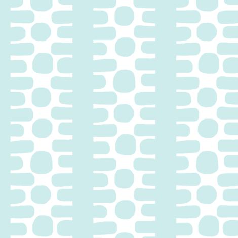 Bumpy Dotty Stripe 2 (white + lt. aqua) fabric by pattyryboltdesigns on Spoonflower - custom fabric