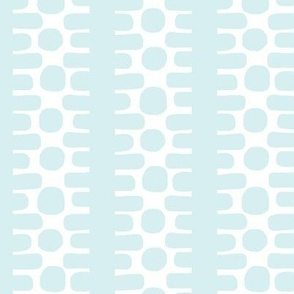 Bumpy Dotty Stripe 2 (white + lt. aqua)