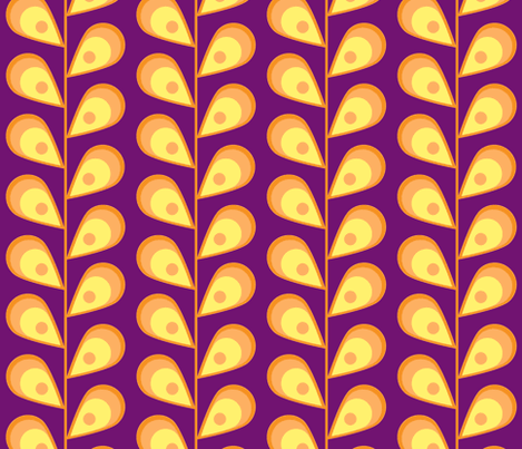 leaves-purple fabric by mgterry on Spoonflower - custom fabric