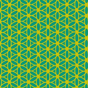 Flower of Life - Teal Lime