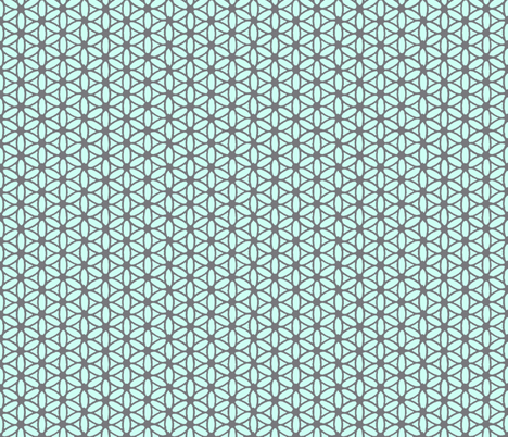 Flower of Life - Gray Mint fabric by leahvanlutz on Spoonflower - custom fabric