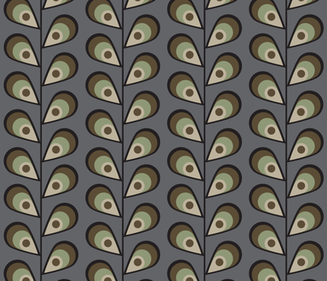 leavesgreyandbrown fabric by mgterry on Spoonflower - custom fabric
