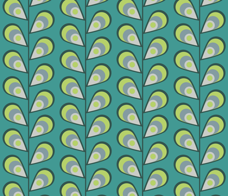 leavestealgrey fabric by mgterry on Spoonflower - custom fabric