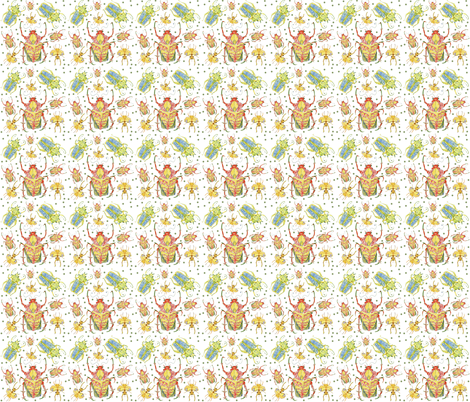 Beetles Rumble fabric by bad_penny on Spoonflower - custom fabric