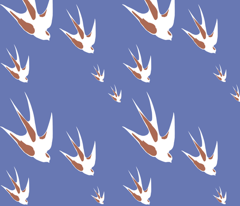 1946 Birds fabric by luckylucille on Spoonflower - custom fabric