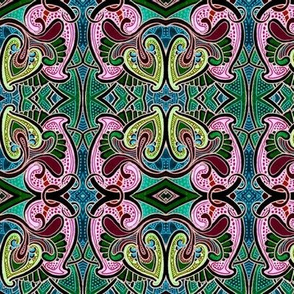 Stained Glass Paisley Takes Over the World