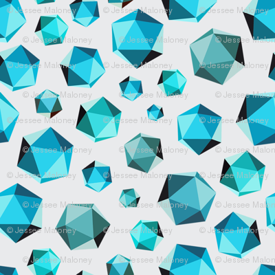 Geometric Shape #003 - Teals