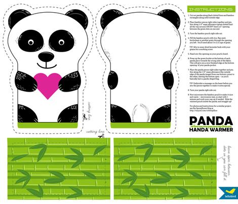 Panda Handa Warmer Cut & Sew fabric by jenimp on Spoonflower - custom fabric