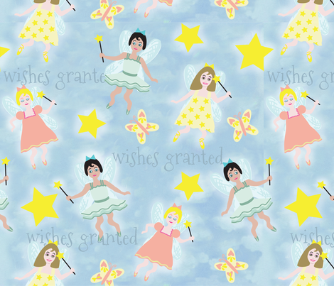larger_fairies_repeat fabric by mcuetara on Spoonflower - custom fabric
