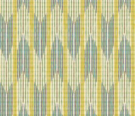 Yagasuri - lemon -  fabric by frumafar on Spoonflower - custom fabric