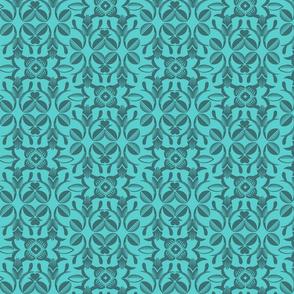 Ornate garden blue