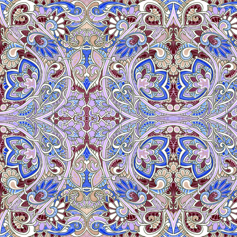 Dusty Lavender Love in the Paisley Gardens fabric by edsel2084 on Spoonflower - custom fabric