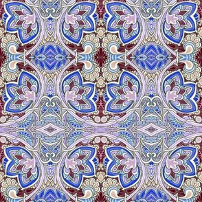 Misty Spring Morning (a nouveau deco kaleidoscope floral)