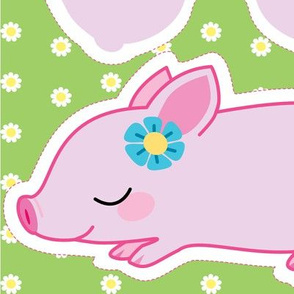 Kawaii piglet warmable pillow and cover