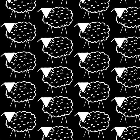 Baaaaa! inverted (or Aaaaab!) fabric by anniedeb on Spoonflower - custom fabric