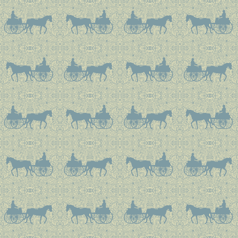 William Morris' Carriage Horse fabric by ragan on Spoonflower - custom fabric