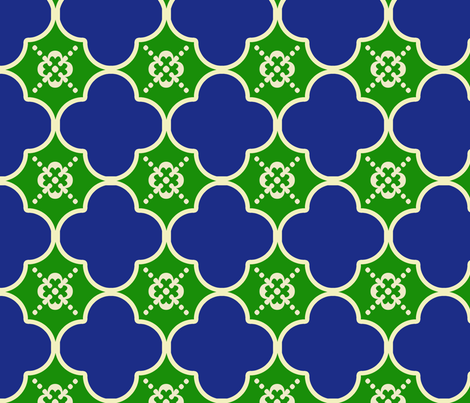 clover2GreenandBlue fabric by mgterry on Spoonflower - custom fabric