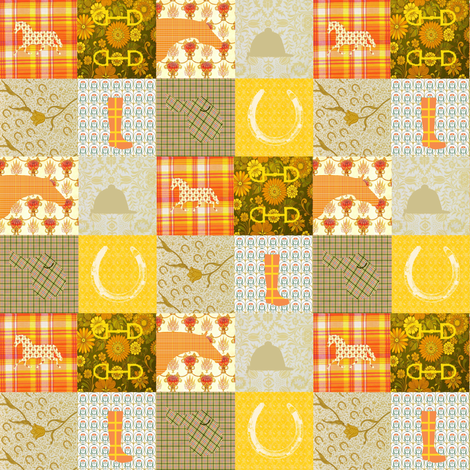Horse-ified Cheater Quilt fabric by ragan on Spoonflower - custom fabric