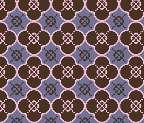 clover4brownandpink fabric by mgterry on Spoonflower - custom fabric