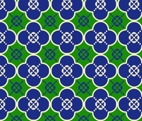 clover4GreenandBlue fabric by mgterry on Spoonflower - custom fabric