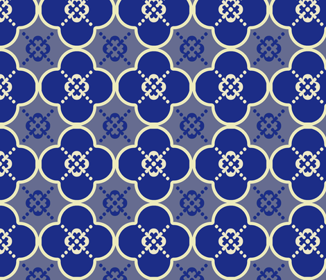 clover4GreyandBlue_copy fabric by mgterry on Spoonflower - custom fabric