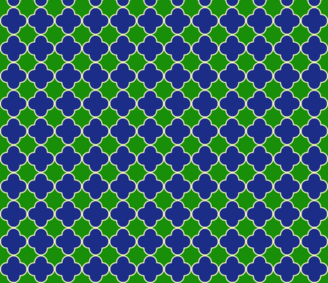 cloverEmeraldandBlue fabric by mgterry on Spoonflower - custom fabric