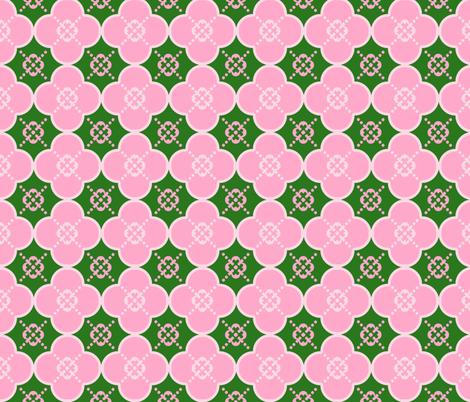 cloverPinkandGreen fabric by mgterry on Spoonflower - custom fabric