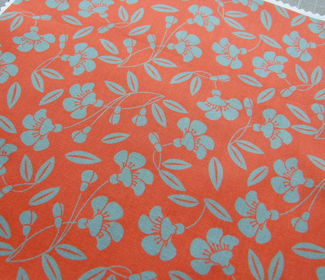 Japanese blossom orange