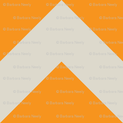 orange and ecru chevron