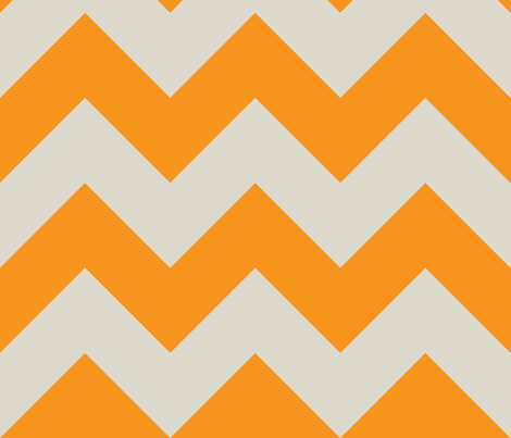 orange and ecru chevron fabric by barbaraneelydesigns on Spoonflower - custom fabric