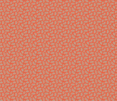 Small leaf branches orange fabric by cjldesigns on Spoonflower - custom fabric