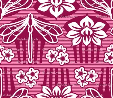 Japanese combs plum and pink