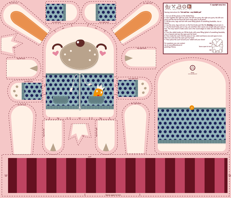 Cosy Rabbit Pal fabric by verycherry on Spoonflower - custom fabric