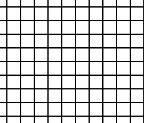 Grid White Fabric Alihenrie Spoonflower