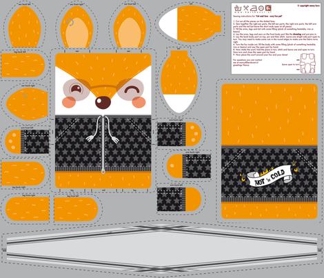 Cosy Fox Pal fabric by verycherry on Spoonflower - custom fabric