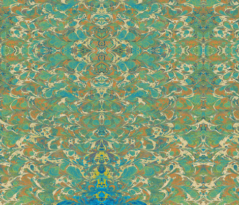 bookbinder blues fabric by undermanners on Spoonflower - custom fabric