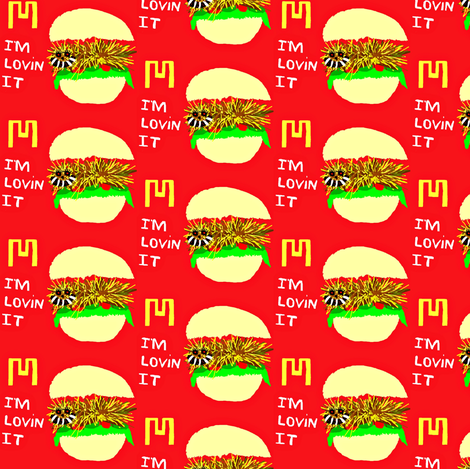 McLion Sandwich fabric by winterblossom on Spoonflower - custom fabric