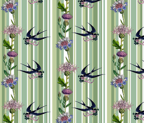 thistle fabric by poshcrustycouture on Spoonflower - custom fabric