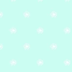 dandelion polka dots