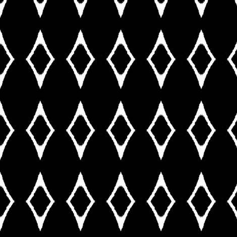 African white diamonds fabric by dk_designs on Spoonflower - custom fabric