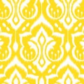 Sunshine Damask - Nursery Yellow