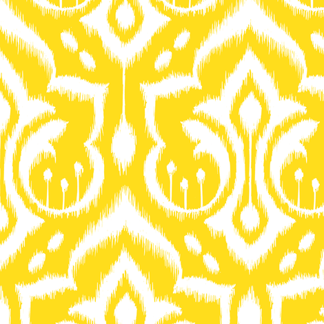 Sunshine Damask - Nursery Yellow fabric by pattysloniger on Spoonflower - custom fabric
