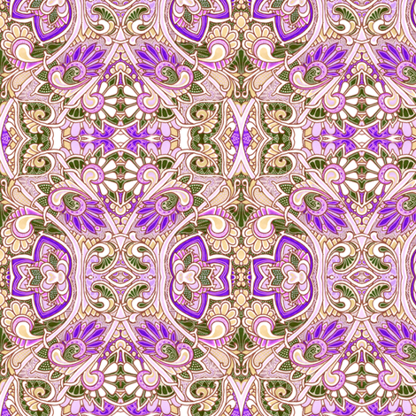 Along the Lavender Garden Path fabric by edsel2084 on Spoonflower - custom fabric