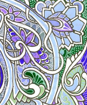 Nouveau Boudoir (in blue and lavender)